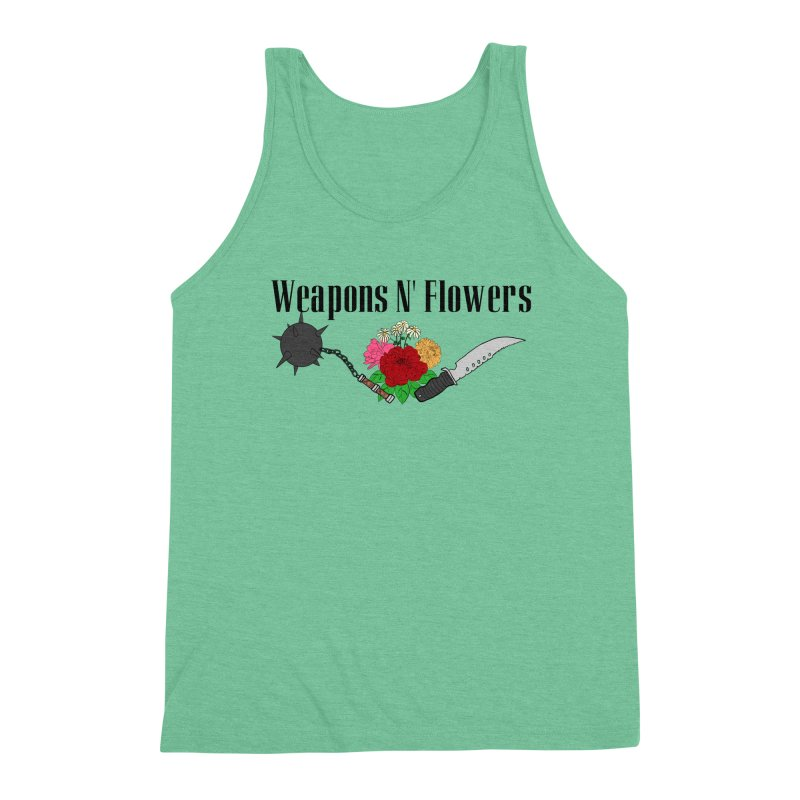 Weapons N' Flowers Men's Triblend Tank by Hello Siyi