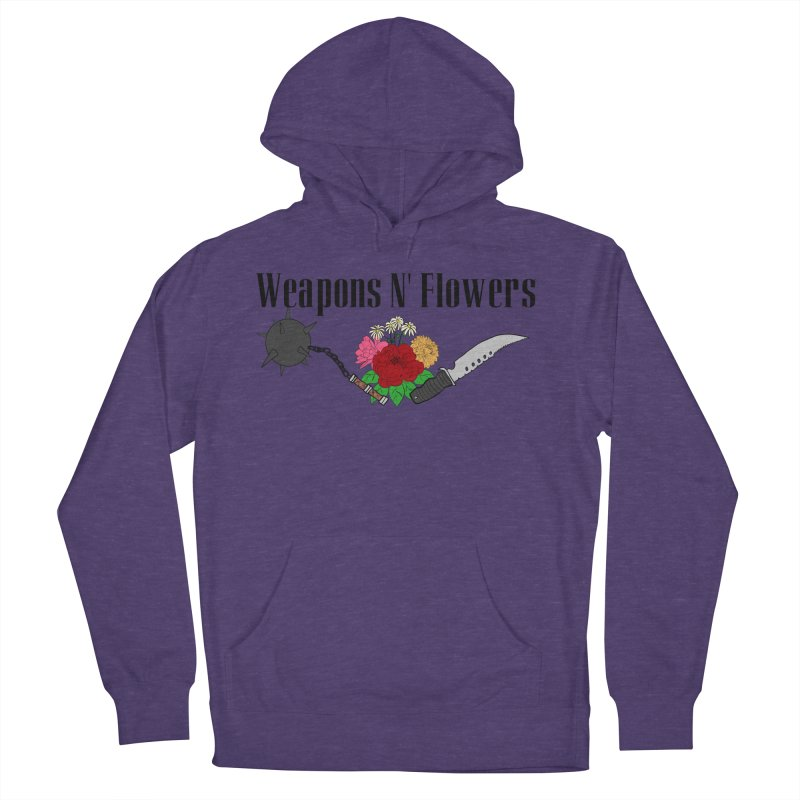 Weapons N' Flowers Men's French Terry Pullover Hoody by Hello Siyi