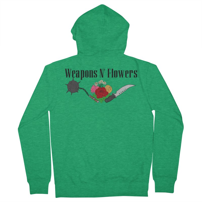 Weapons N' Flowers Women's French Terry Zip-Up Hoody by Hello Siyi