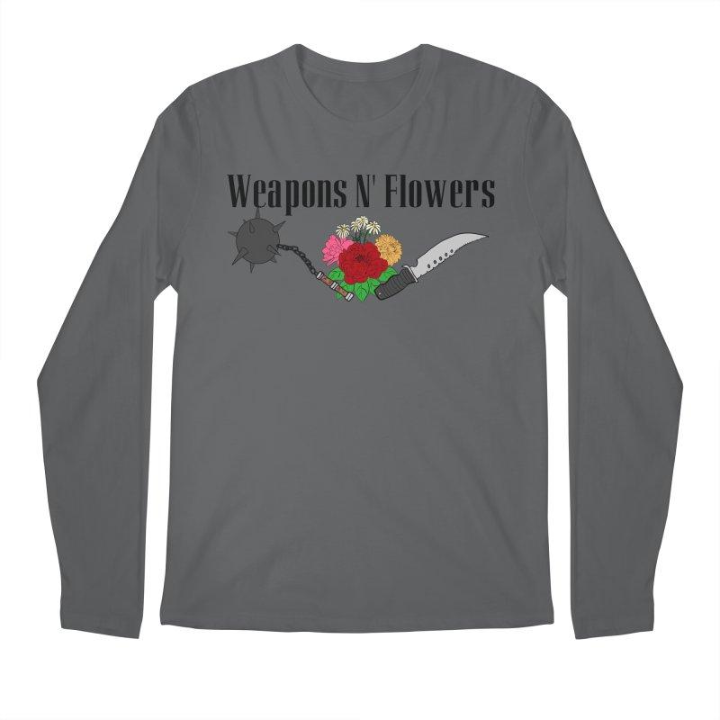 Weapons N' Flowers Men's Regular Longsleeve T-Shirt by Hello Siyi