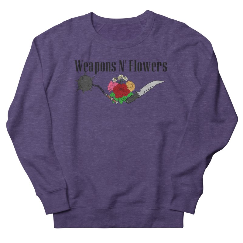 Weapons N' Flowers Women's French Terry Sweatshirt by Hello Siyi