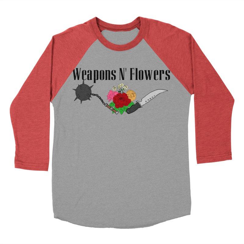 Weapons N' Flowers Men's Baseball Triblend Longsleeve T-Shirt by Hello Siyi