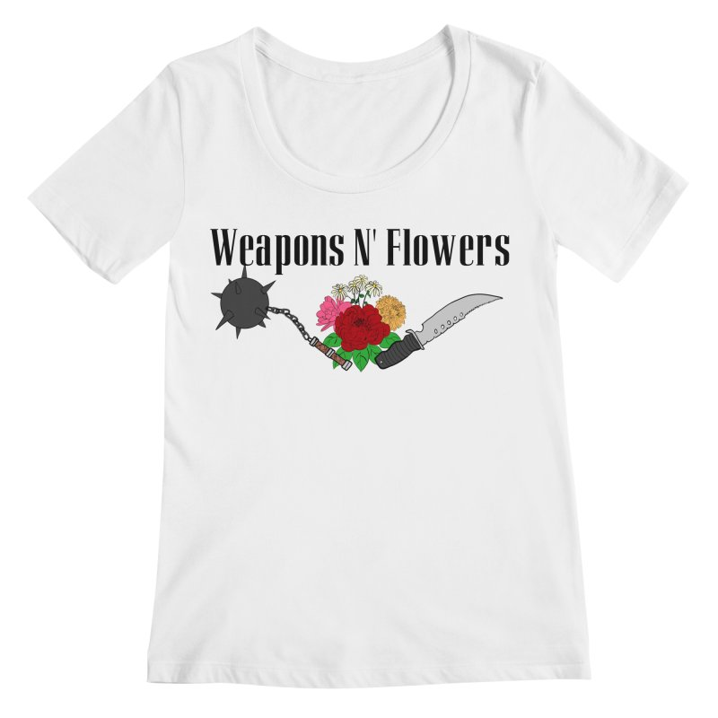 Weapons N' Flowers Women's Regular Scoop Neck by Hello Siyi
