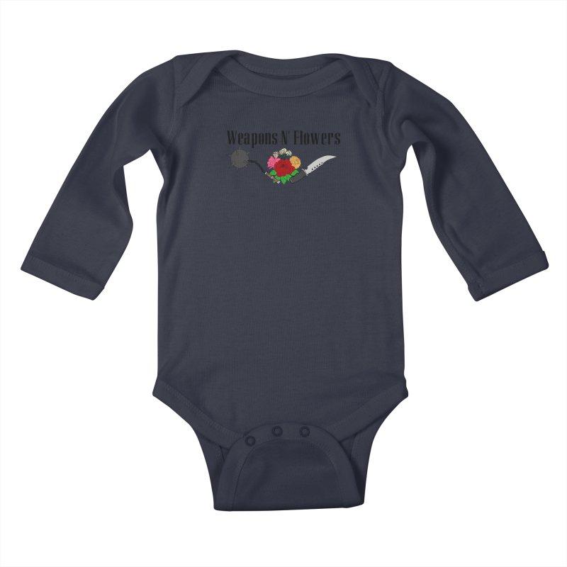 Weapons N' Flowers Kids Baby Longsleeve Bodysuit by Hello Siyi