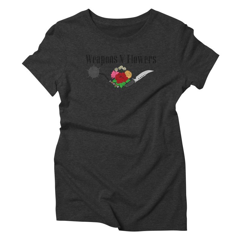 Weapons N' Flowers Women's Triblend T-Shirt by Hello Siyi