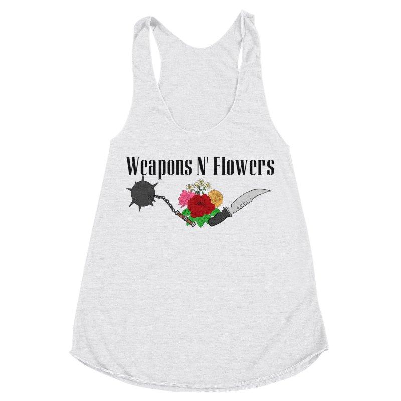 Weapons N' Flowers Women's Racerback Triblend Tank by Hello Siyi
