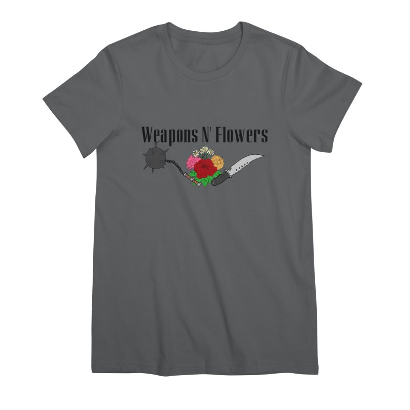 Weapons N' Flowers Women's Premium T-Shirt by Hello Siyi