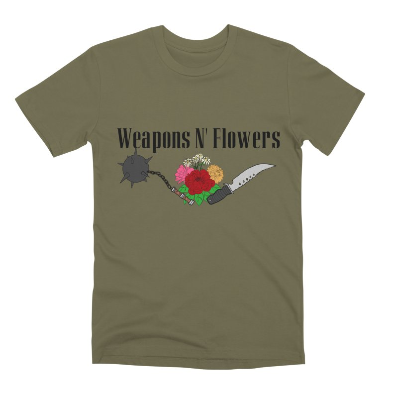 Weapons N' Flowers Men's Premium T-Shirt by Hello Siyi