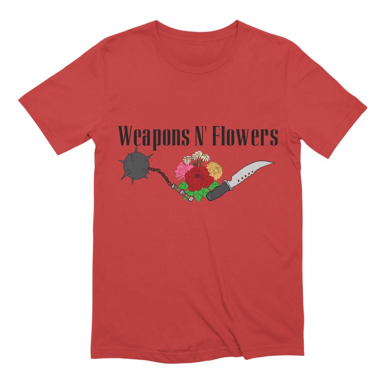 Weapons N' Flowers Men's Extra Soft T-Shirt by Hello Siyi