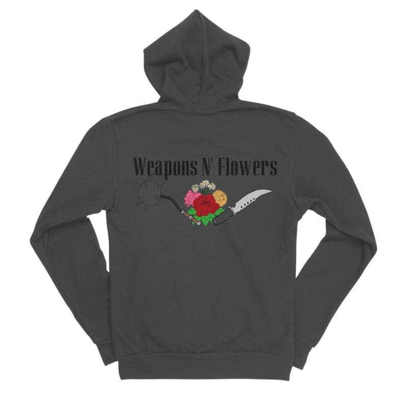 Weapons N' Flowers Men's Sponge Fleece Zip-Up Hoody by Hello Siyi