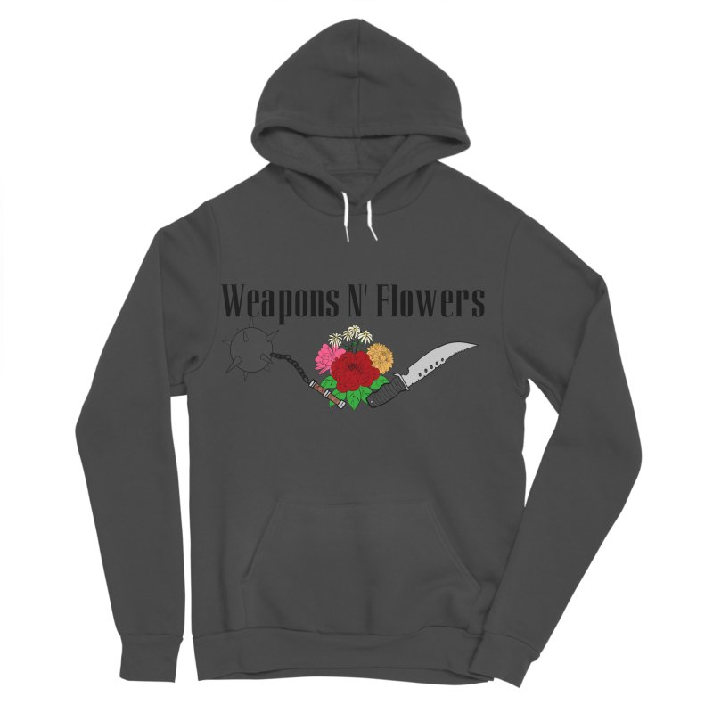 Weapons N' Flowers Women's Sponge Fleece Pullover Hoody by Hello Siyi