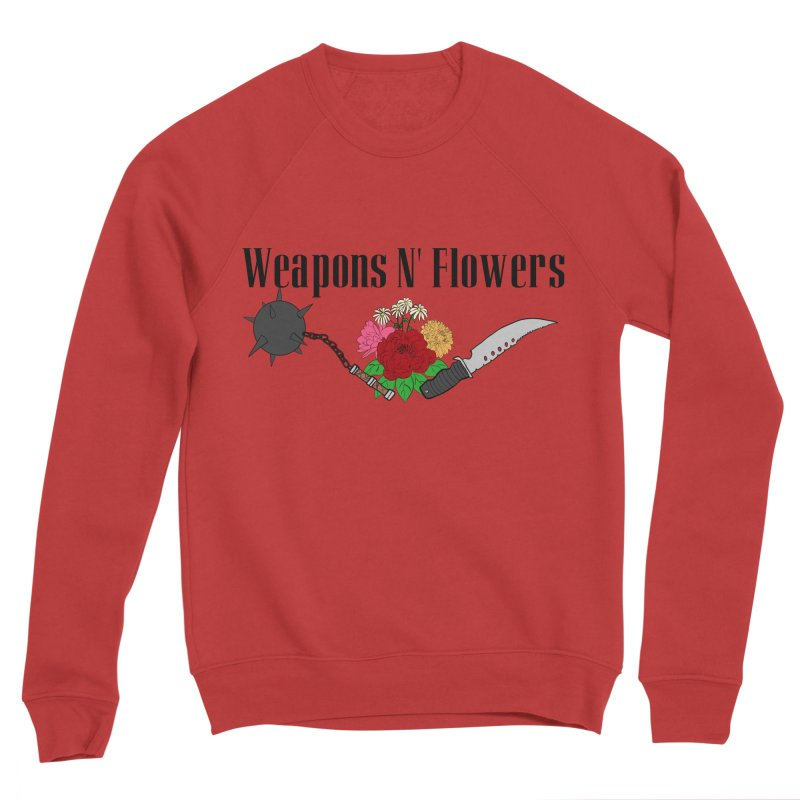 Weapons N' Flowers Men's Sponge Fleece Sweatshirt by Hello Siyi