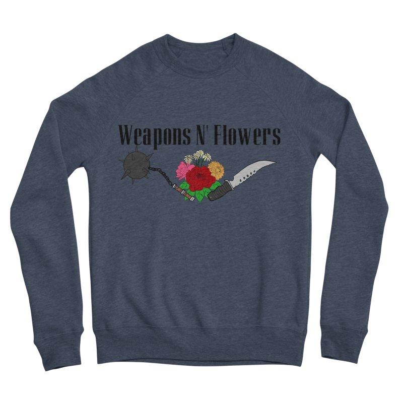 Weapons N' Flowers Women's Sponge Fleece Sweatshirt by Hello Siyi