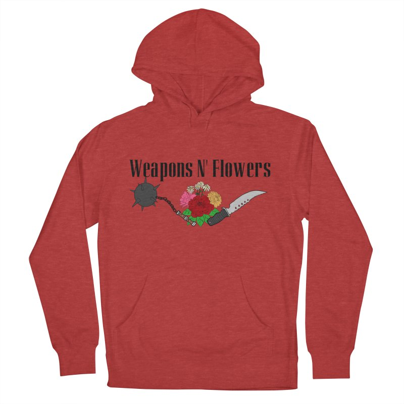 Weapons N' Flowers Women's French Terry Pullover Hoody by Hello Siyi