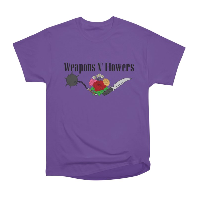 Weapons N' Flowers Women's Heavyweight Unisex T-Shirt by Hello Siyi