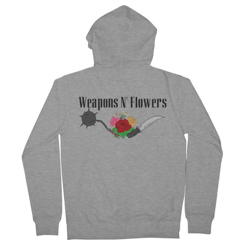 Weapons N' Flowers Men's French Terry Zip-Up Hoody by Hello Siyi