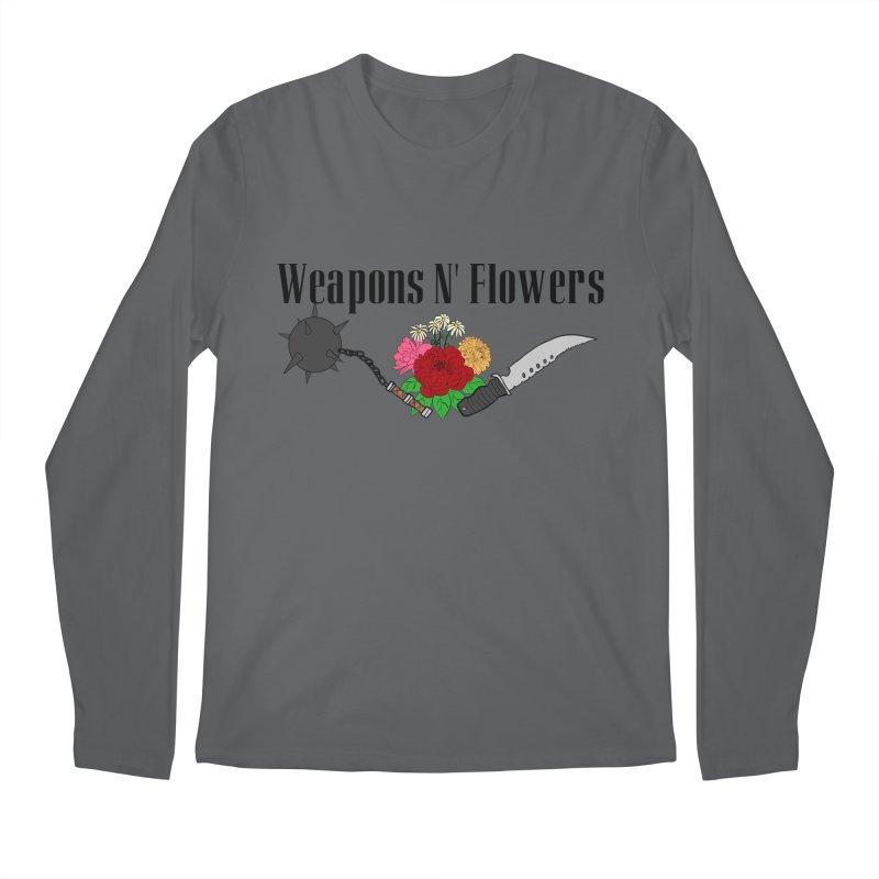 Weapons N' Flowers Men's Longsleeve T-Shirt by Hello Siyi