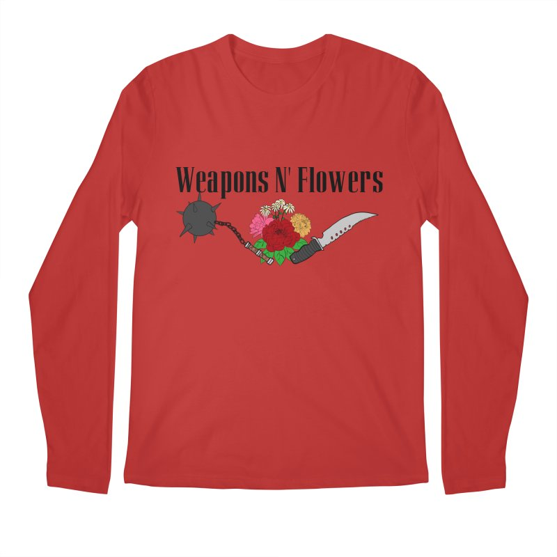 Weapons N' Flowers Men's Regular Longsleeve T-Shirt by Hello Siyi