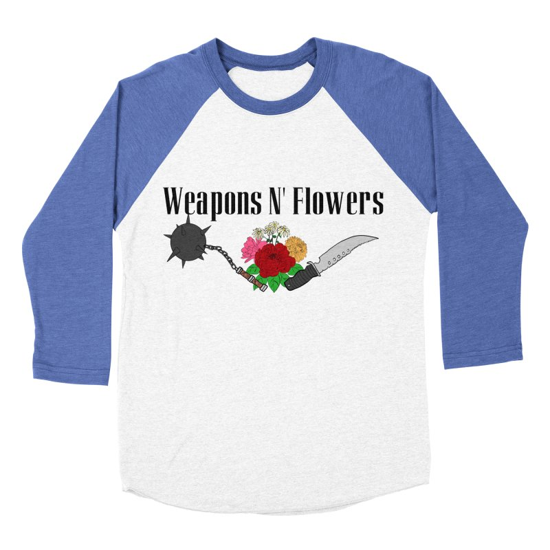 Weapons N' Flowers Women's Baseball Triblend Longsleeve T-Shirt by Hello Siyi