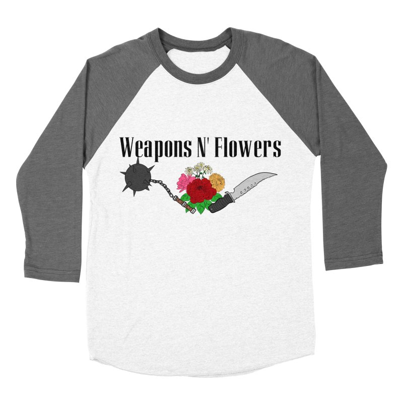 Weapons N' Flowers Men's Baseball Triblend Longsleeve T-Shirt by Hello Siyi