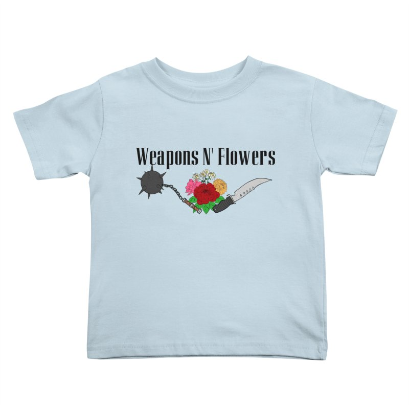 Weapons N' Flowers Kids Toddler T-Shirt by Hello Siyi