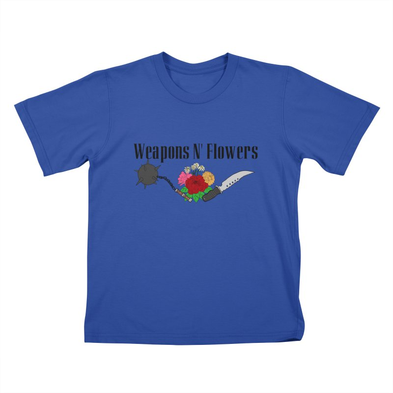 Weapons N' Flowers Kids T-Shirt by Hello Siyi