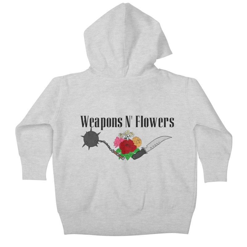Weapons N' Flowers Kids Baby Zip-Up Hoody by Hello Siyi