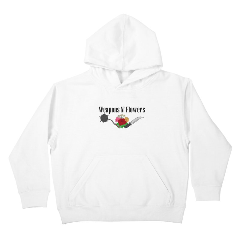 Weapons N' Flowers Kids Pullover Hoody by Hello Siyi