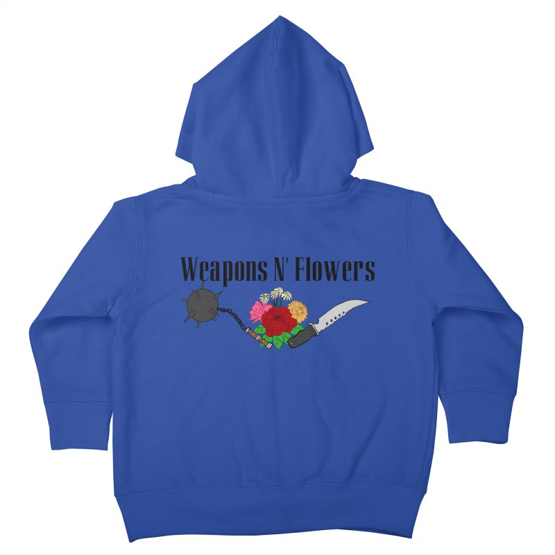 Weapons N' Flowers Kids Toddler Zip-Up Hoody by Hello Siyi