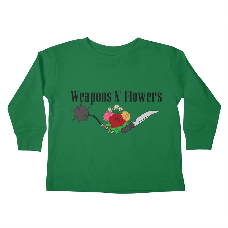 Weapons N' Flowers Kids Toddler Longsleeve T-Shirt by Hello Siyi