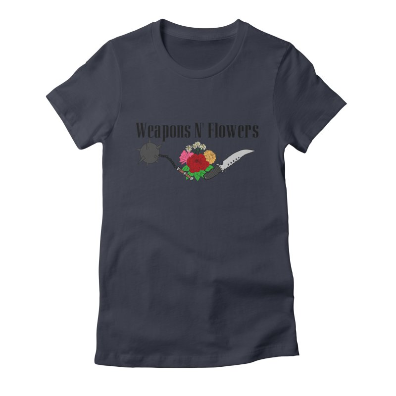 Weapons N' Flowers Women's Fitted T-Shirt by Hello Siyi