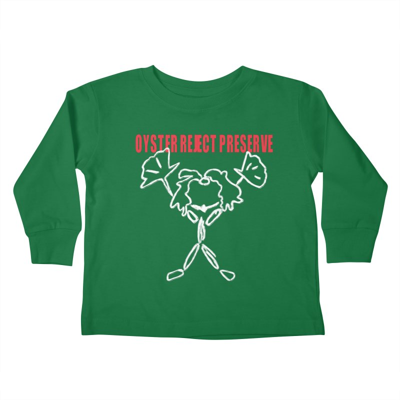Oyster Reject Preserve Kids Toddler Longsleeve T-Shirt by Hello Siyi