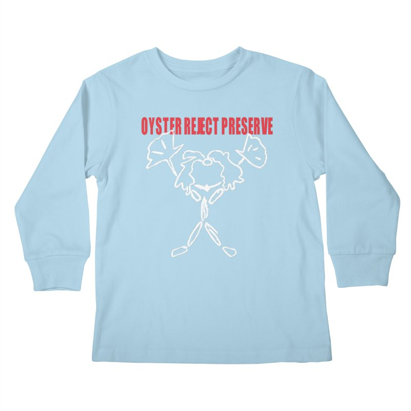 Oyster Reject Preserve Kids Longsleeve T-Shirt by Hello Siyi