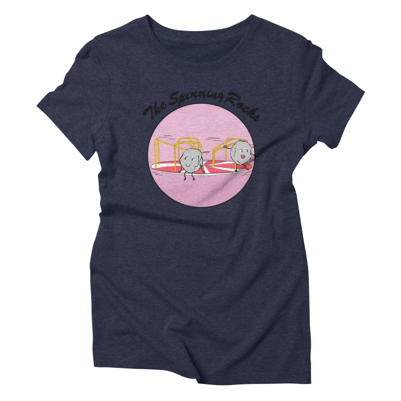 The Spinning Rocks Women's Triblend T-Shirt by Hello Siyi