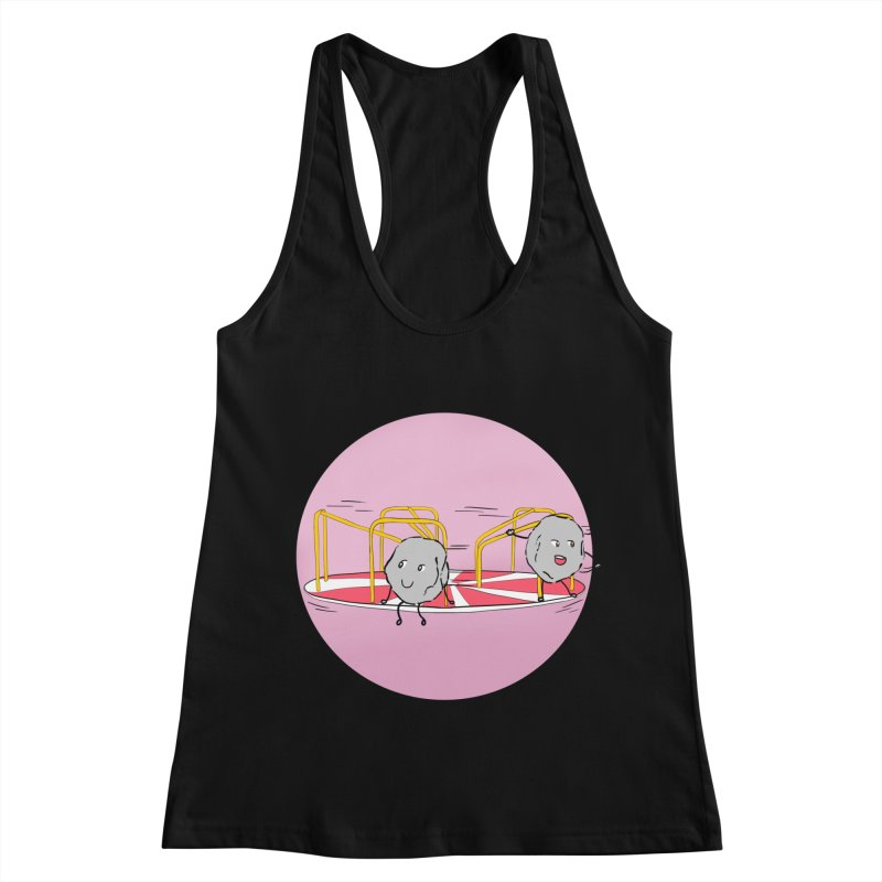 The Spinning Rocks Women's Racerback Tank by Hello Siyi