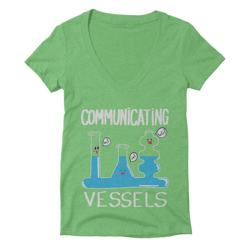 Communicating Vessels Women's Deep V-Neck V-Neck by Hello Siyi