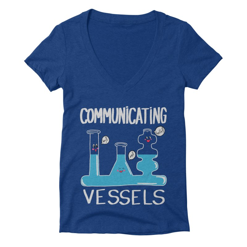 Communicating Vessels Women's Deep V-Neck V-Neck by Hello Siyi