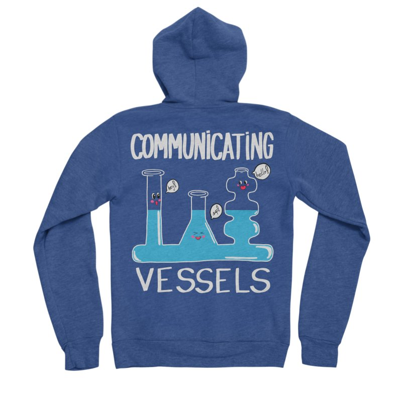Communicating Vessels Men's Sponge Fleece Zip-Up Hoody by Hello Siyi