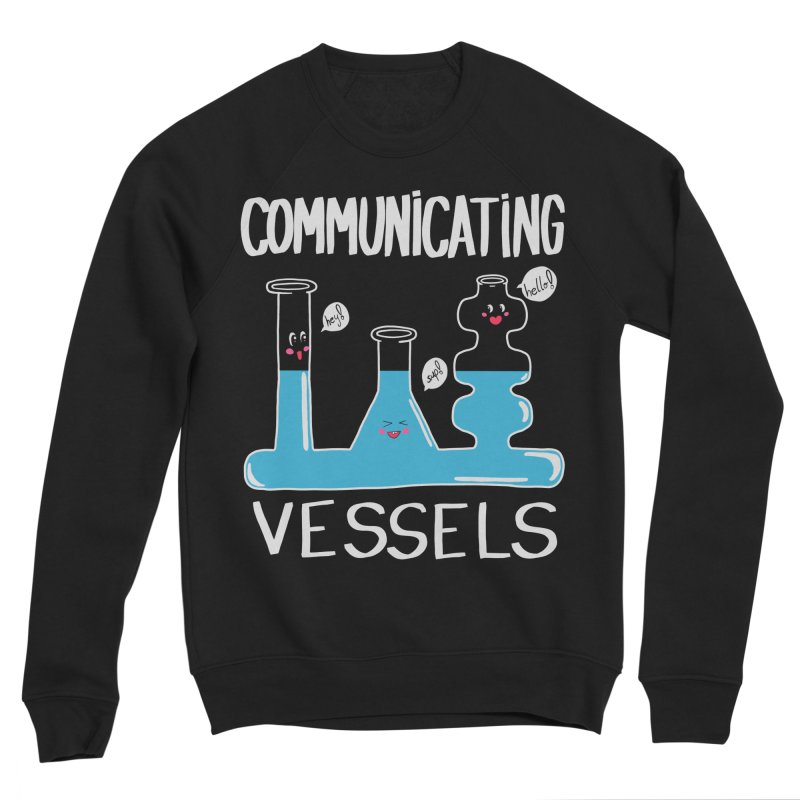 Communicating Vessels Men's Sponge Fleece Sweatshirt by Hello Siyi