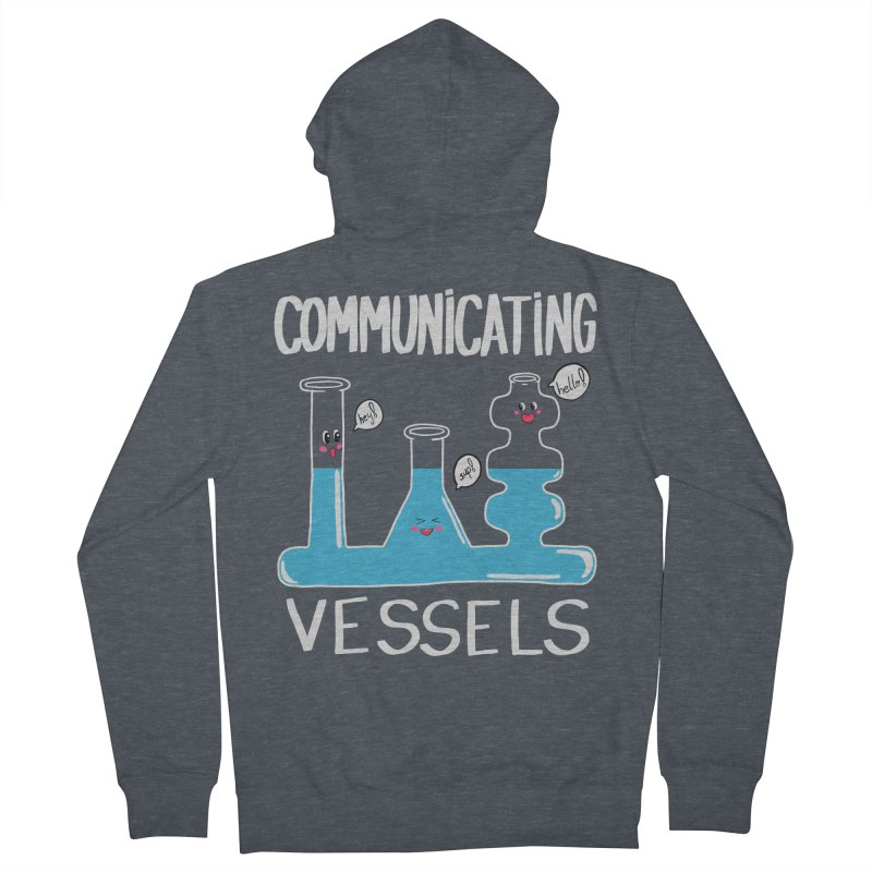 Communicating Vessels Men's French Terry Zip-Up Hoody by Hello Siyi