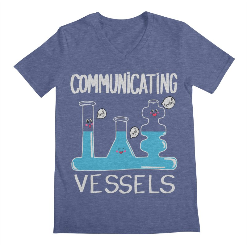 Communicating Vessels Men's Regular V-Neck by Hello Siyi