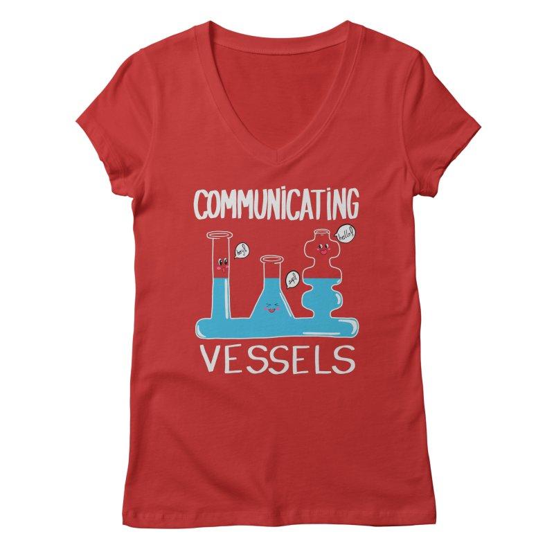 Communicating Vessels Women's Regular V-Neck by Hello Siyi