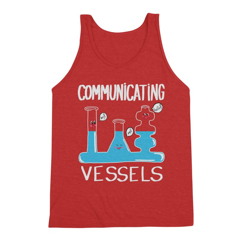Communicating Vessels Men's Triblend Tank by Hello Siyi