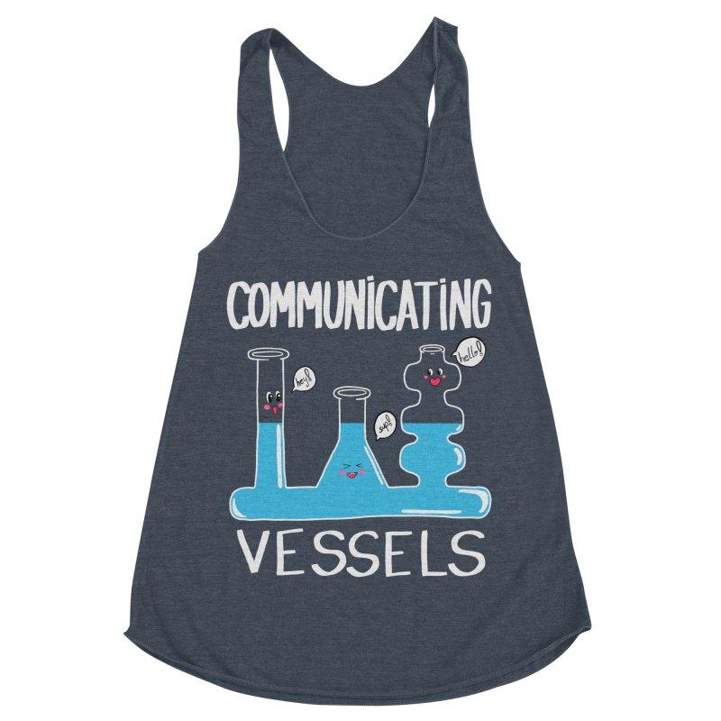 Communicating Vessels Women's Racerback Triblend Tank by Hello Siyi