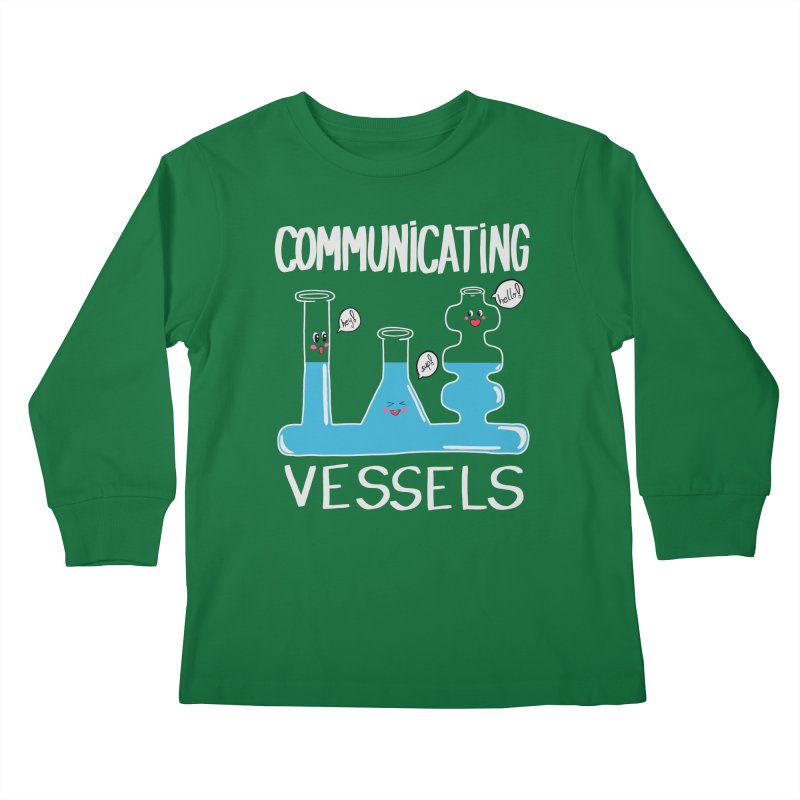 Communicating Vessels Kids Longsleeve T-Shirt by Hello Siyi