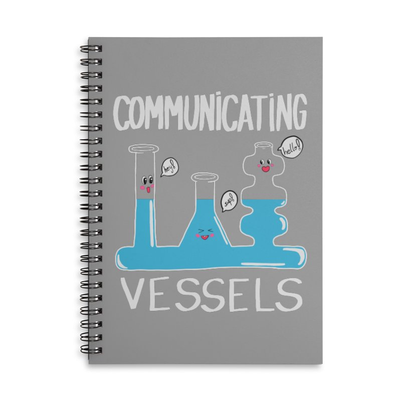 Communicating Vessels Accessories Lined Spiral Notebook by Hello Siyi