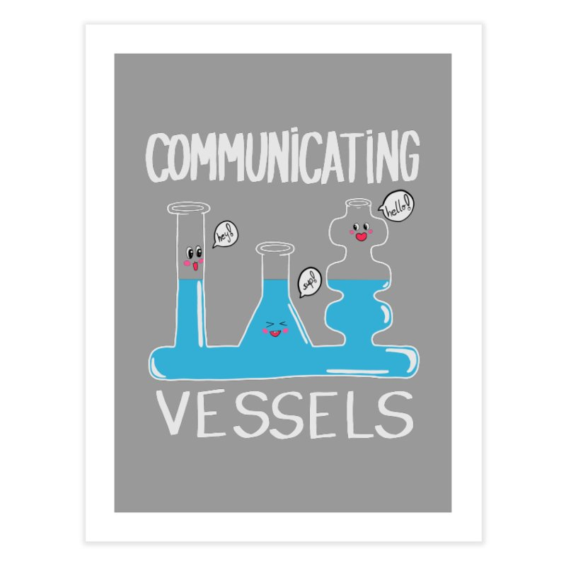 Communicating Vessels Home Fine Art Print by Hello Siyi
