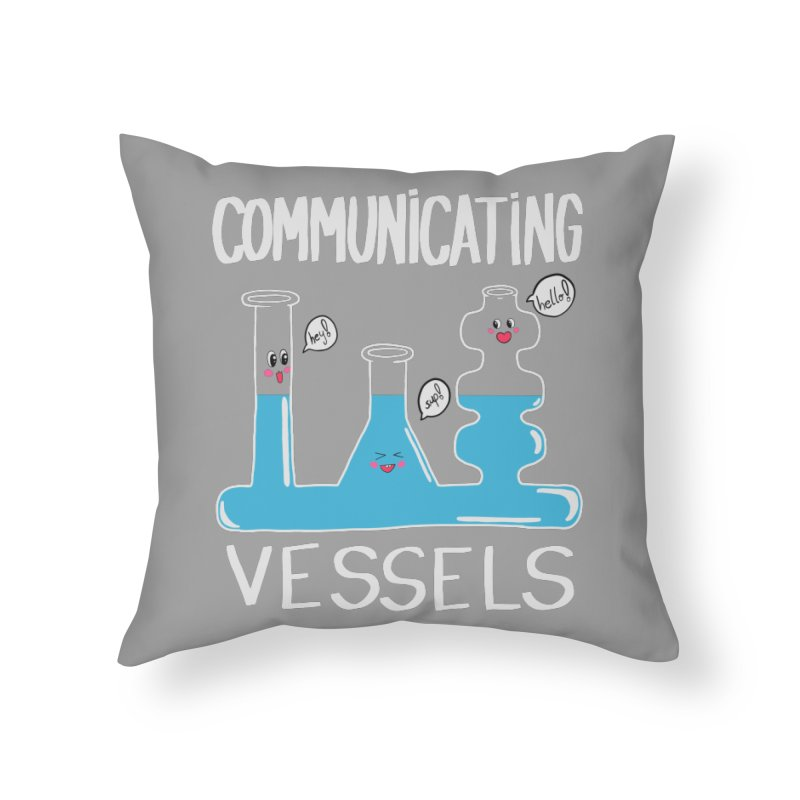 Communicating Vessels Home Throw Pillow by Hello Siyi