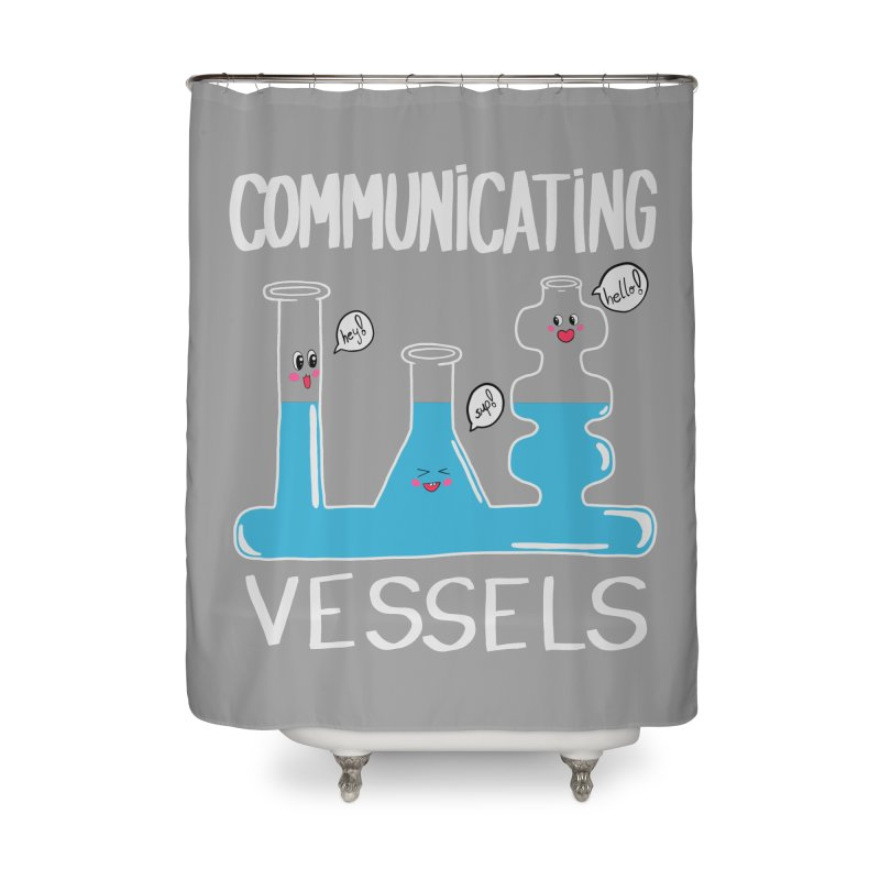 Communicating Vessels Home Shower Curtain by Hello Siyi
