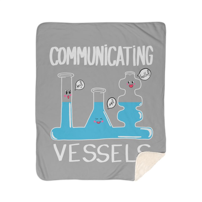 Communicating Vessels Home Sherpa Blanket Blanket by Hello Siyi